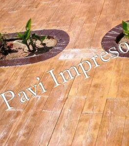 decoración en casa con hormigón impreso