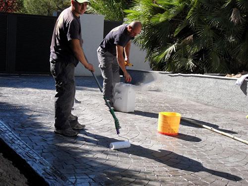 limpiar suelo hormigón impreso