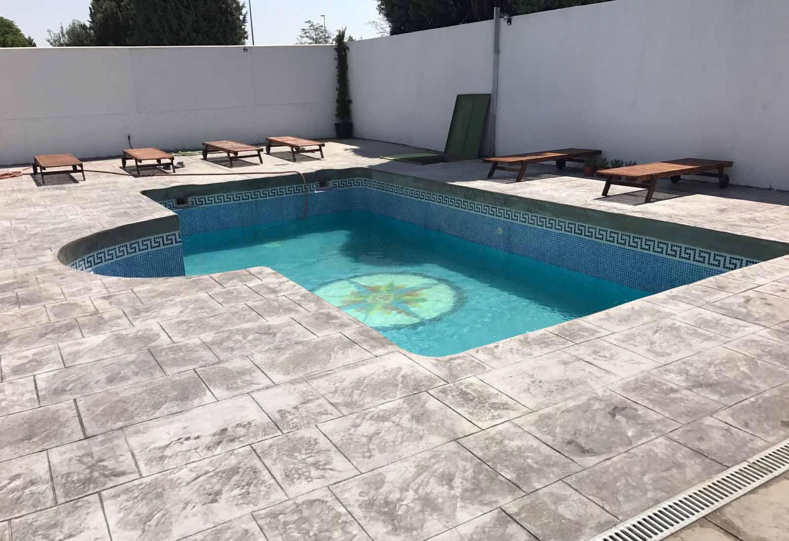 piscinas de hormigón impreso